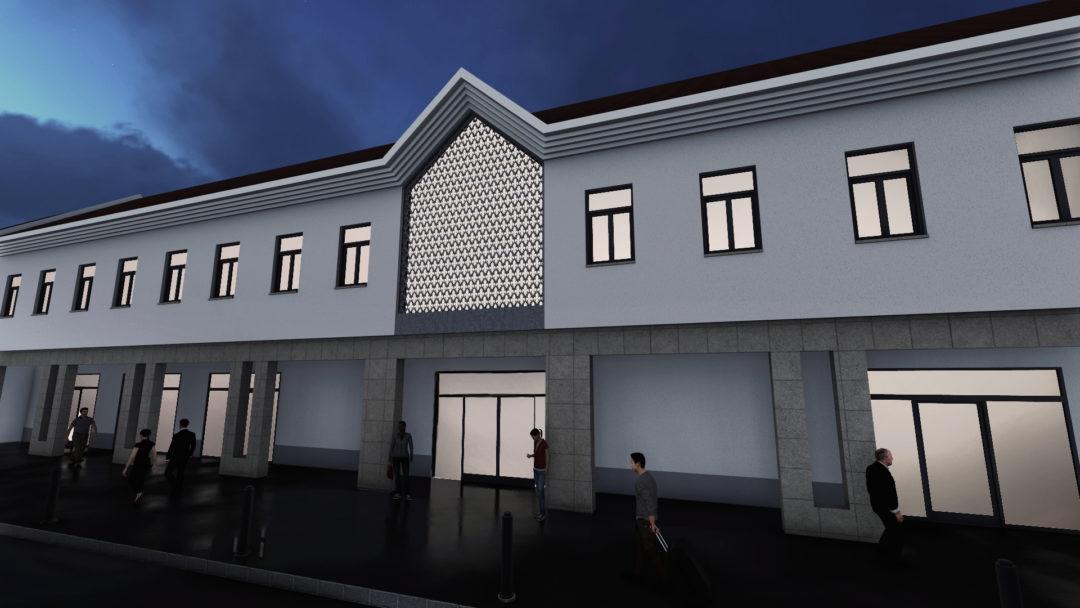 Kereskedelmi és szállás épület – Csorna